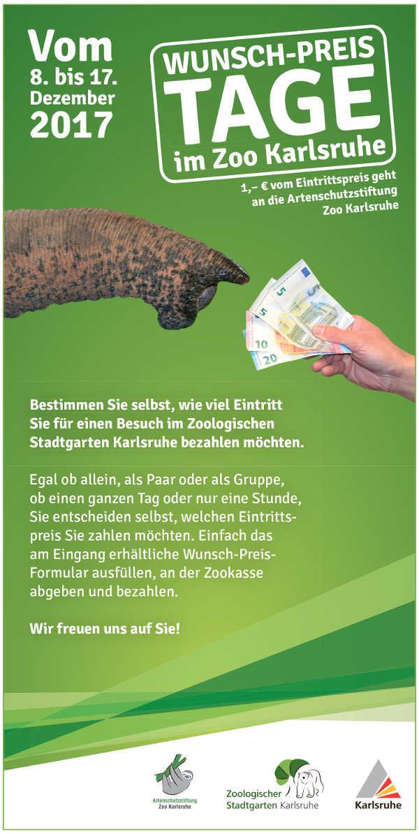 Wunsch-Preis-Tage im Zoologischen Stadtgarten (Quelle: Zoo Karlsruhe)