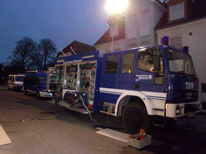 Das THW war auch in Speyer im Einsatz