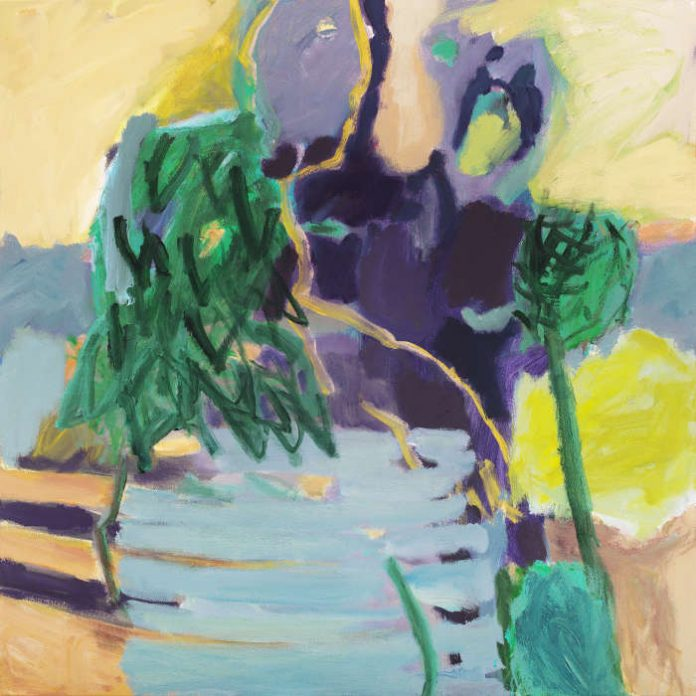 "Irmgard Weber: ""Zusammen"" (2017), Acryl/Leinwand (Foto: Martin Seebald)"