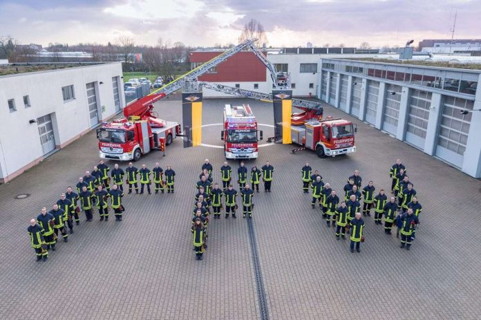 Einsatzkräfte der Feuerwehr Weinheim (Symbolbild: Ralf Mittelbach)