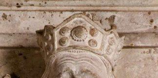 Ausschnitt aus dem Grabmal König Rudolfs von Habsburg (+ 1291) in der Vorkrypta des Domes. (Foto: Domkapitel Speyer/Renate J. Deckers-Matzko)