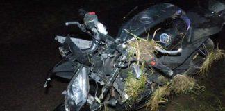 Übersicht verunfalltes Motorrad (Foto: Polizei RLP)