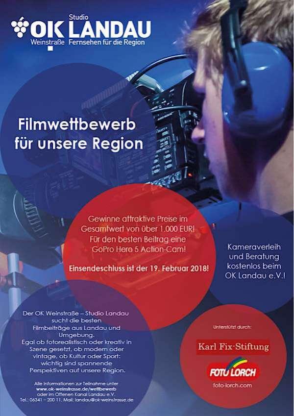 Filmwettbewerb für unsere Region: Das Studio Landau des Offenen Kanals Weinstraße prämiert die besten Filmbeiträge über Landau und Umgebung. (Quelle: Offener Kanal Weinstraße)