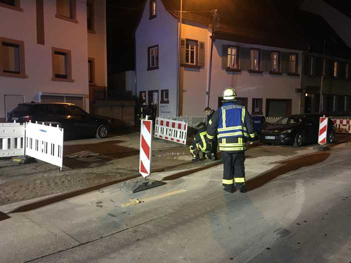 Der Bereich Müllheimer Talstraße musste komplett abgesperrt werden