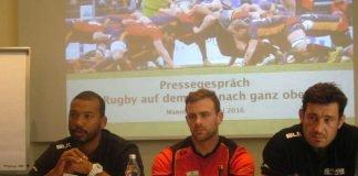 Da war noch Eintracht: Bild der gemeinsamen Pressekonferenz im Mai 2016 (Foto: Hannes Blank)