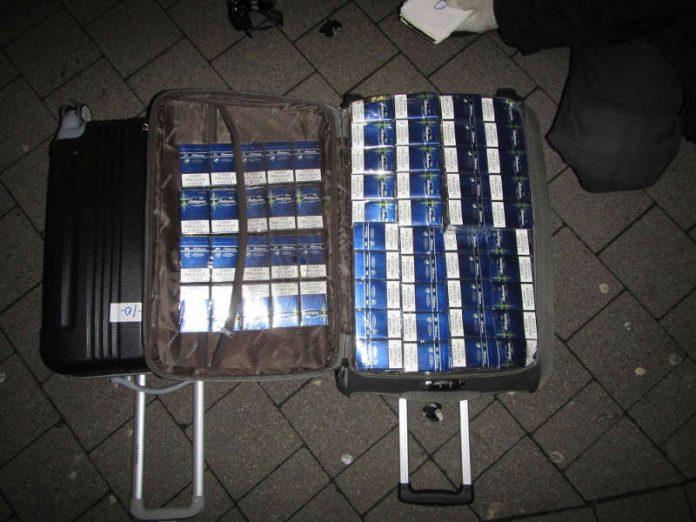 Sichergestellte Zigaretten (Foto: Zollfahndungsamt Frankfurt a.M.)