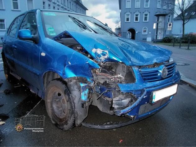 Der VW Polo hätte eigentlich Vorfahrt gehabt…