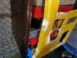 Futterspende-Automaten wurden von den Einbrechern aufgebrochen und dabei stark beschädigt.