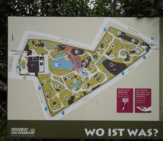 Übersichtskarte im Zoo Frankfurt (Foto: Holger Knecht)