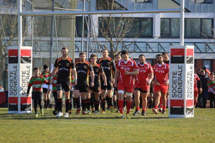 Das Rugby-Nationalteam von Georgien (rechts) (Foto: Tobias Keil)