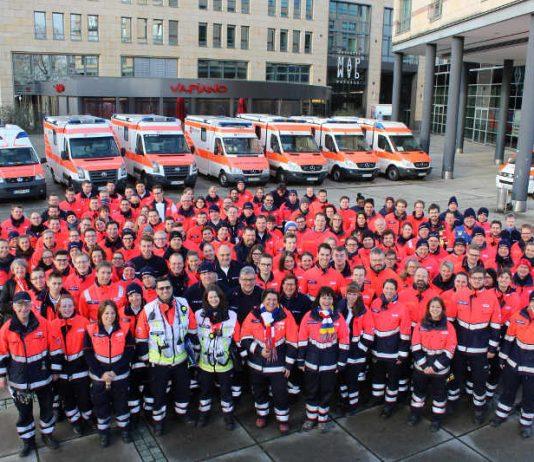Insgesamt rund 157 ehrenamtliche Helferinnen und Helfer der Malteser aus ganz Rheinland-Pfalz waren an Rosenmontag in Mainz im Einsatz, 14 davon aus dem Bistum Speyer (Foto: Malteser)