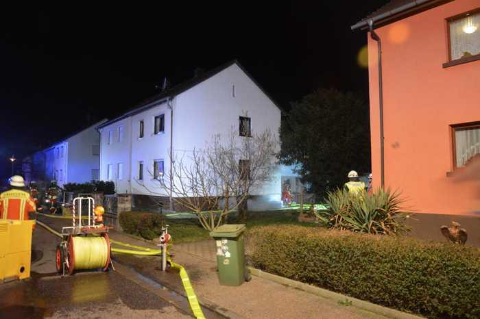 Die Feuerwehr Bruchsal wurde zu diesem Wohnhaus gerufen
