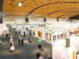 Blick in Halle 3 der art KARLSRUHE. (Foto: KMK/Jürgen Rösner)