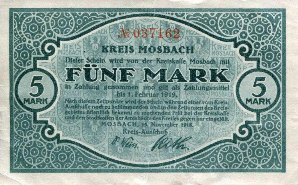 Notgeld des Kreises Mosbach, abgegeben in einer Wallfahrtskirche (Repro: Kreisarchiv Neckar-Odenwald-Kreis)