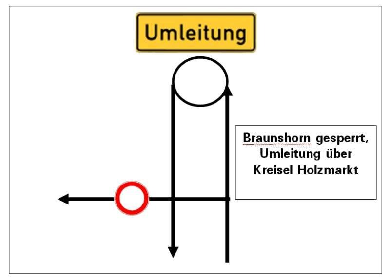 Umleitung (Quelle : Stadtverwaltung Bad Kreuznach)