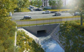 Neue Brücke über den Luderbach an der Kennedyallee, Visualisierung (Foto: Stadt Frankfurt/Horvath)