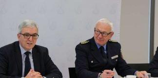 innenminister Roger Lewentz und Jürgen Schmitt, Inspekteur der Polizei (Foto: MdI)