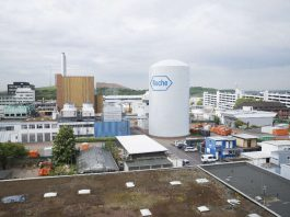Und so soll der Kaltwasserspeicher auf dem Werksgelände in Mannheim aussehen (Foto: Roche Diagnostics GmbH)
