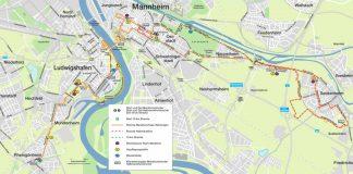 SRH Dämmer Marathon 2018 - Strecke alle Wertungen (Quelle: M3 GmbH & Co. KG)