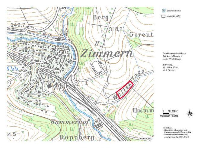 Auf der Karte ist der Veranstaltungsort markiert (Quelle: LEV NOK)