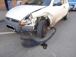 Der Pkw des Unfallverursachers. Es entstand wirtschaftlicher Totalschaden