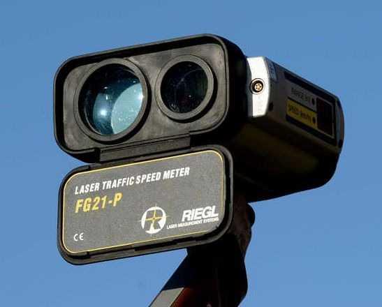 Lasermessung auf der A 650