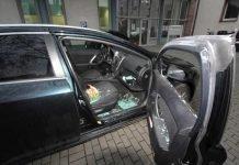 Aufgebrochenes Fahrzeug
