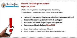 Enkenbach-Alsenborn: Falsche Polizeibeamtin ruft an