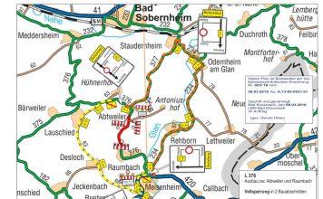 Umleitungsplan (Quelle: LBM Bad Kreuznach)