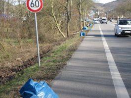 Reinigungsaktion entlang der Lorscher Straße (Foto: Stadt Heppenheim)