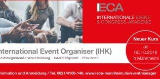 Berufsbegleitende Weiterbildung zum International Event Organiser (IHK)