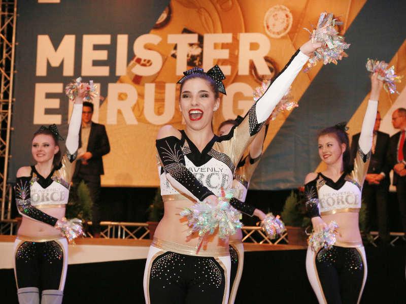 CVJM American Sports Club Altenkirchen, Deutscher Mannschaftsmeister Team Cheer Jazz, bei einem der Showacts. (Foto: LSB/Bernd Eßling)