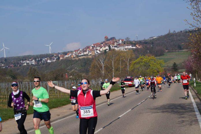 Die Laufstrecke bei Neuleiningen (Foto: Kreisverwaltung Deutsche Weinstraße)