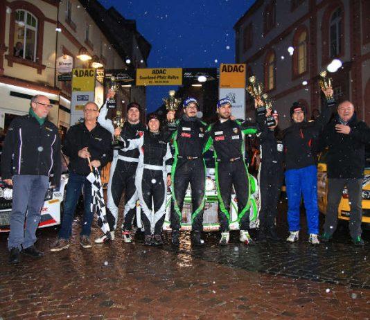 Siegerfoto Gesamtklassement, ADAC Saarland-Pfalz Rallye 2018 (Foto: ADAC Motorsport)