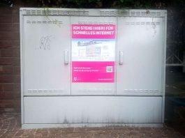 Ankündigung schnelles Internet (Foto: Holger Knecht)