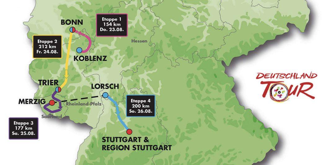 Streckenkarte (Deutschland-Tour)