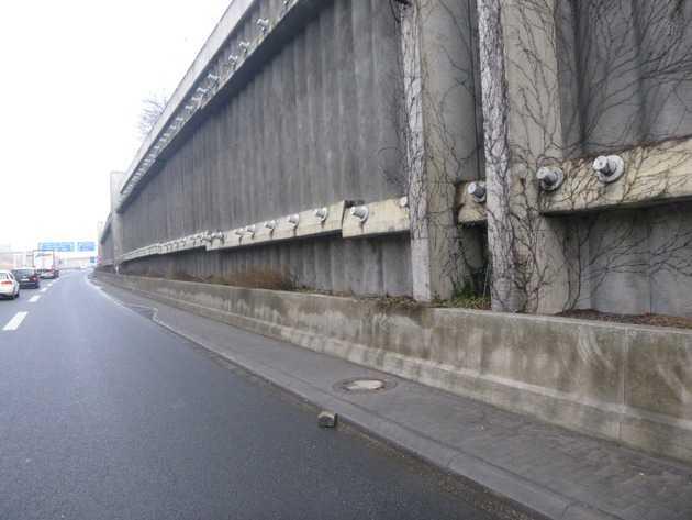 Bereich Hechtsheimer Tunnel