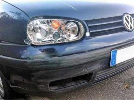 Am VW Golf des Unfallverursachers entstand Frontschaden.