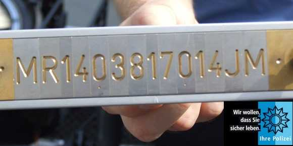 Symbolbild, Polizei, Marburg, Fahrrad, Codierung © Polizei Marburg