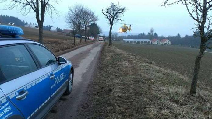 Verkehrsunfall mit Roller Unfallstelle