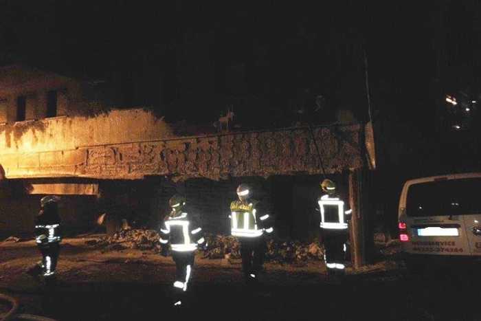 Mülleiemerbrand - Die Feuerwehr im Einsatz