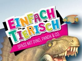 """Plakat """"Einfach tierisch!"""" - Titelbild Dimetrodon: © Tricture by eli – eine lose idee – GmbH"""