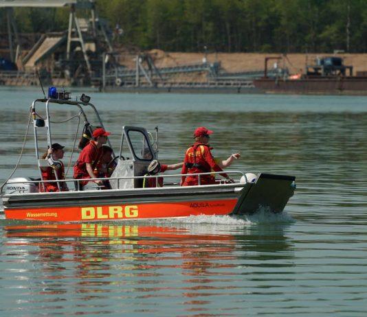 Eines der bei der Übung eingesetzten Rettungsboote (Foto: Holger Knecht)