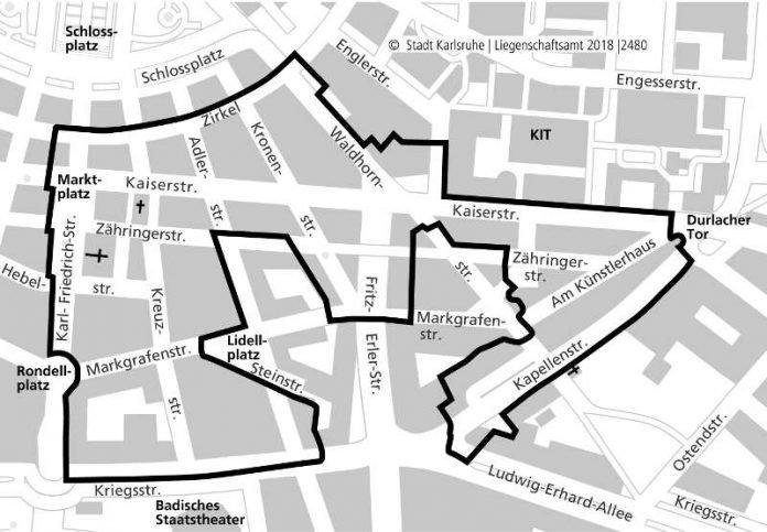 Sanierungsgebiet Innenstadt-Ost (Plan: Stadtplanungsamt)