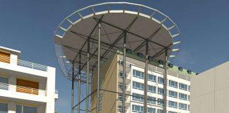 Illustration des Hubschrauberlandeplatzes (Quelle: Klinikum Darmstadt GmbH)