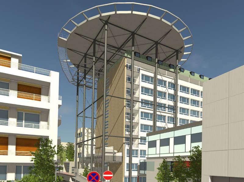 darmstadt klinikum darmstadt errichtet einen hubschrauberlandeplatz auf dem dach von geb ude 5. Black Bedroom Furniture Sets. Home Design Ideas