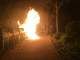 Sperrmüllbrand in der Mannheimer Straße
