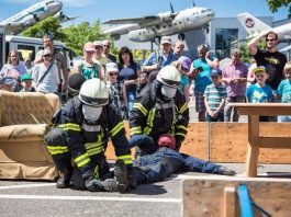 Foto von einer Rettungsübung (Foto: Thorsten Sperk