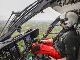 """""""Das DLR will mit seiner Forschung langfristig dazu beitragen, Rettungshubschrauber fit zu machen für Einsätze bei fast jedem Wetter und zu jeder Tageszeit"""", so die DLR-Vorstandsvorsitzende Prof. Dr. Pascale Ehrenfreund. (Foto: ADAC Luftrettung / Marcus Winkler)"""
