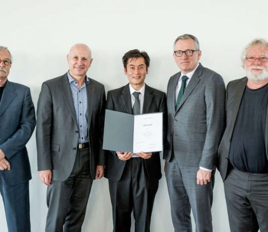 v.l.: Prof. Dr. Jürgen Berger, Prof. Dr. Dieter Leonhard, Dr. Claude W. Sui, Dr. Peter Kurz, Dr. Milan Chlumsky. (Foto: Thommy Mardo)